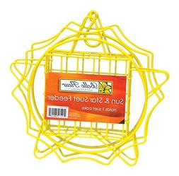 Belle Fleur Sun & Star Suet Bird Feeder, Yellow, One Suet Ca