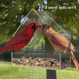 THE ORIGINAL Window Bird Feeder: large, durable, washable! F