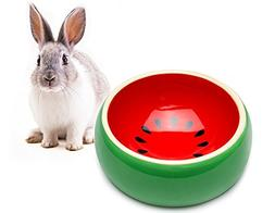 Mkono No-Tip Ceramic Rabbit Food Bowl Feeder for Guinea Pig