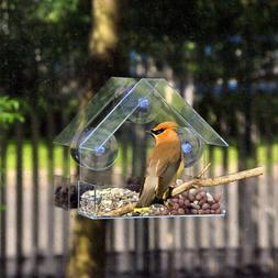 Transparent glass for windows viewing <font><b>bird</b></fon