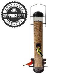Tube Bird Feeder Lightweight Clear Hanging Finch Seed Friend