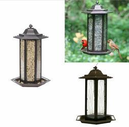 Tulip Garden Lantern Bird Feeder Squirrel Proof Outdoor For