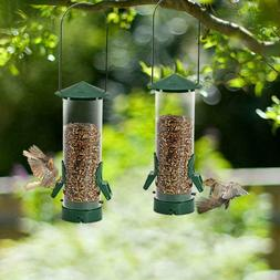 Twinkle Star Wild Bird Feeder Tube Feeder with Metal Handle