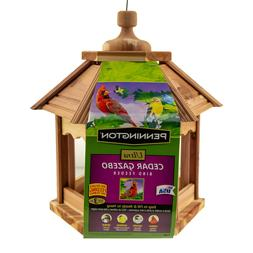 Pennington Ultra Cedar Gazebo Wild Bird Feeder, 3 lb. Seed C