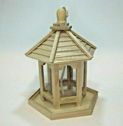Unfinished Wood Bird Seed Feeder - Ready To Finish! Paint St