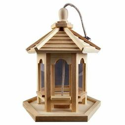 Unfinished wood decorative natural wood Gazebo Bird Feeder B