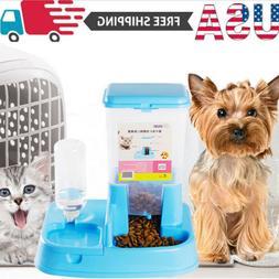 US Automatic Pet Feeder Dog Cat Auto Dispenser Food Dish Bow