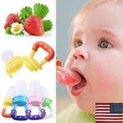 US Baby Feeding Pacifier Fresh Food Fruits Feeder Dummy Soot