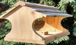 Very Large Cedar Bird Feeder *** BIG *** 15 lbs Seed Capacit