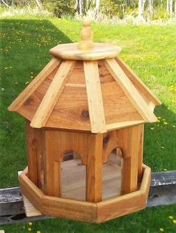 Very large handmade cedar wood gazebo style bird feeder, #RS