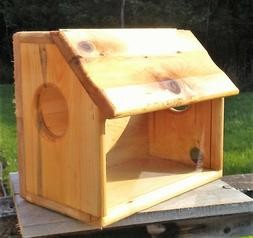 Very Large fence or tree mount see through squirrel feeder c