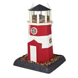 North States Village Collection Light House Birdfeeder- Red/