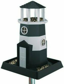 Village Collection Shoreline Lighthouse Birdfeeder 8 Lb Blac