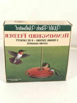 Vintage Hummingbird Feeder 8 oz Wild Birds Unlimited Model W