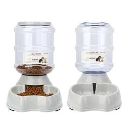 Old Tjikko Water Feeder for Dogs,1 Gallon Feeding Waterer Su