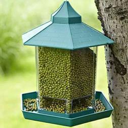 green bird feeder large seed capacity size