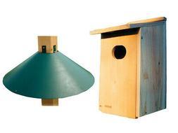 Woodlink WD1 Cedar Duck House with Post Mount Squirrel Baffl