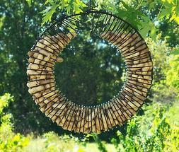 Whole Peanut Wire Wreath Metal Squirrel Feeder Blue Jays Bir