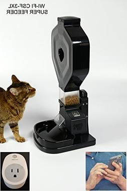 Super Feeder Wi-Fi Automatic Cat Feeder, CSF-3XL, Stand/Bowl