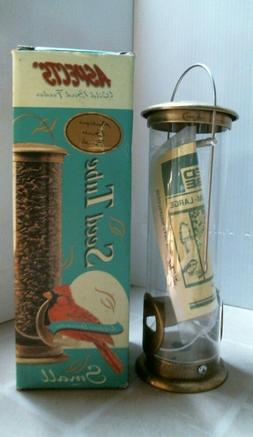 Aspects Wild Bird Feeder, Antique Brass Finish, Seed Feeder,