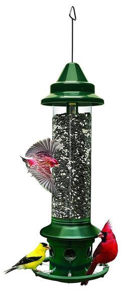 Wild Bird Feeder Hanger Set Squirrel Buster Plus 5.1llb Seed
