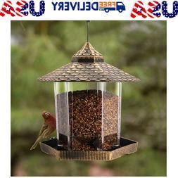 Wild Bird Feeder Hanging for Garden Yard Outside Decor, Hexa