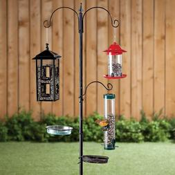 Wild Bird Feeding Station Kit Pole Stand Feeder Hook For Out