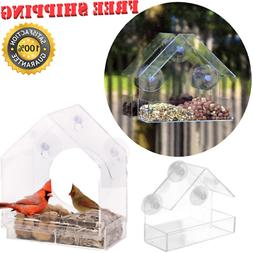Wild Bird Feeder Window Squirrel Proof Outdoor Bird Feeders