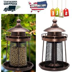 Wild Bird Feeders Vintage Squirrel Proof Hanging Feeder Seed