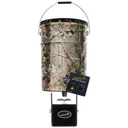 Wildgame Innovations Pail Feeder, Real Tree Camo Steel, 50-L
