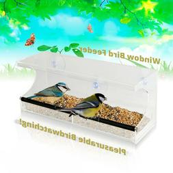 Window Bird Feeder -3 Suction Cups Easy Mounting Removable S