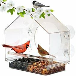 Window Bird Feeder by Nature Anywhere . GIFT EDITION. Includ