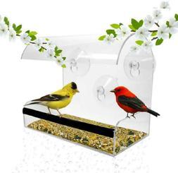 Window Bird Feeder - Feeders For Outside - Acrylic -...