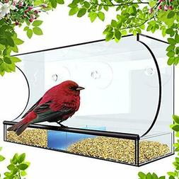 Tadge Goods Window Bird Feeder For Outside - XL 5 Inch Openi