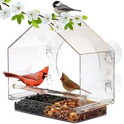 Window Bird Feeder House by Nature Anywhere with Sliding Fee