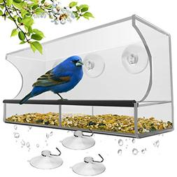 Bird Feeder window with Strong Suction Cups and Seed Tray Ou
