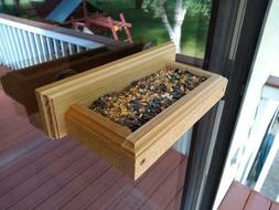 Window Bird Feeder - Wood Bird Feeder - Suction Cup Bird Fee