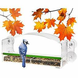 Window Bird Feeders Feeder With Perch For Outside Window, Cl