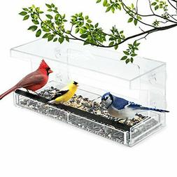 Wild Birds of Joy Window Bird Feeder with 4 Super Strong Suc