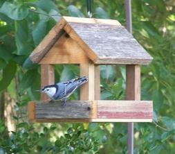 Handcrafted Wood Bird Feeder * Rustic Bird Feeders * Hanging