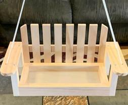 Wooden Porch Swing Bird Feeder