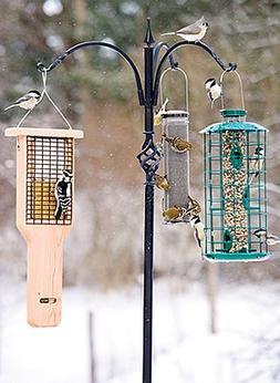 """Erva Wrought Iron 3 Arm Hanger 12"""" Reach  for Bird Feeders P"""