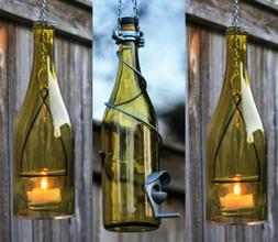 Yellow and Silver Bird Feeder and Lantern Set - Gifts for Mo