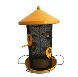 Yellow Metal Hopper Bird Feeder!!
